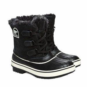Sorel Waterproof Leather Snow Boots Black 7 EUC